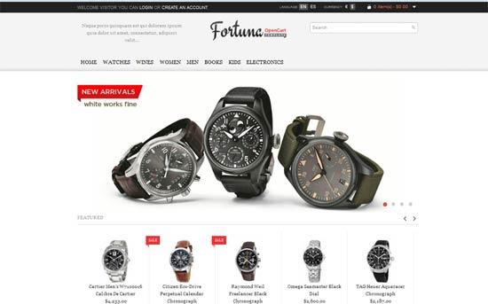 Fortuna-Clock-Store OpenCart theme