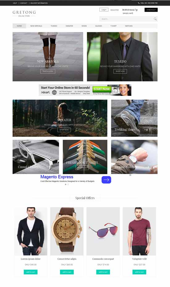 Fre-Flat-Ecommerce-Responsive-Template
