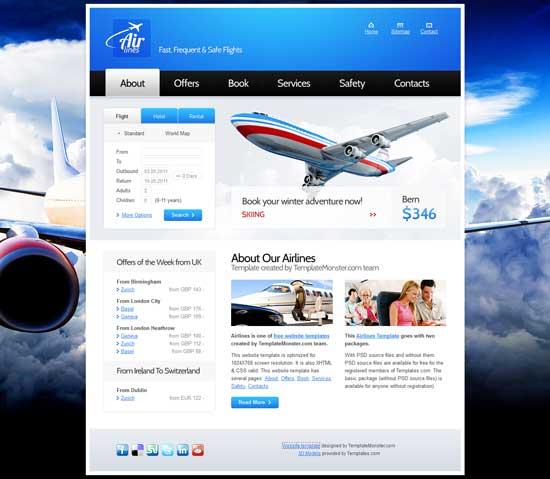 Free-Airlines-Company-Website-Template