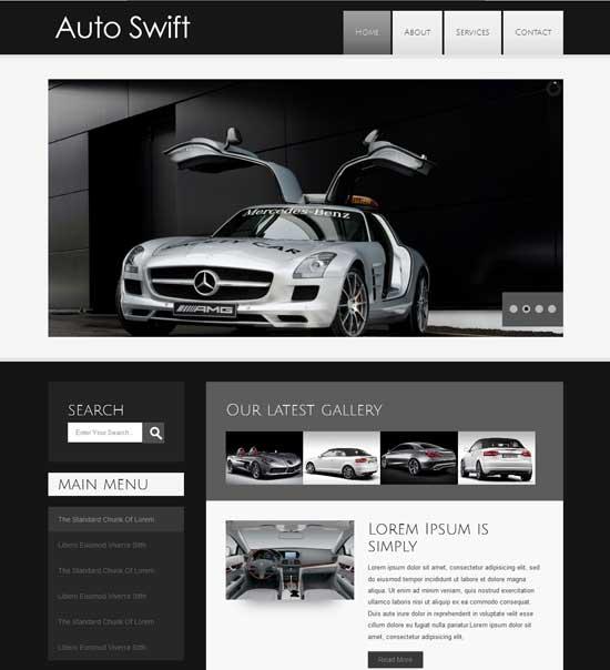 Free-Auto-Swift-automobile-Website-Template