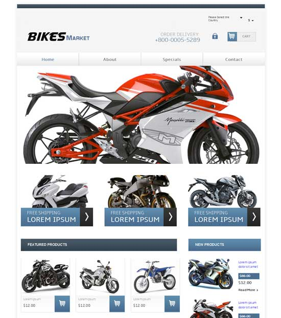 Free-Bikes-Market-Website-Template