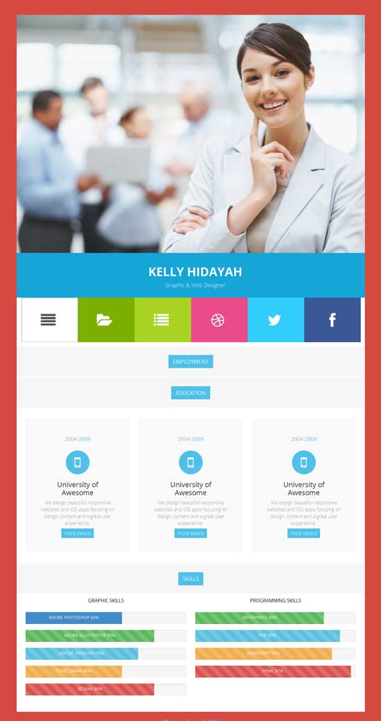 Free-Bootstrap-CV-Resume-HTML-Template