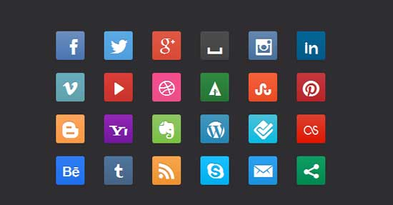 Free-CSS3-Social-Media-Buttons