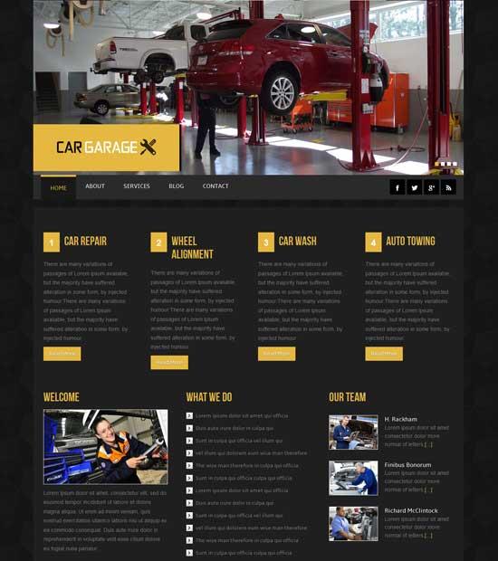 Free-Car-Garage-Website-Template