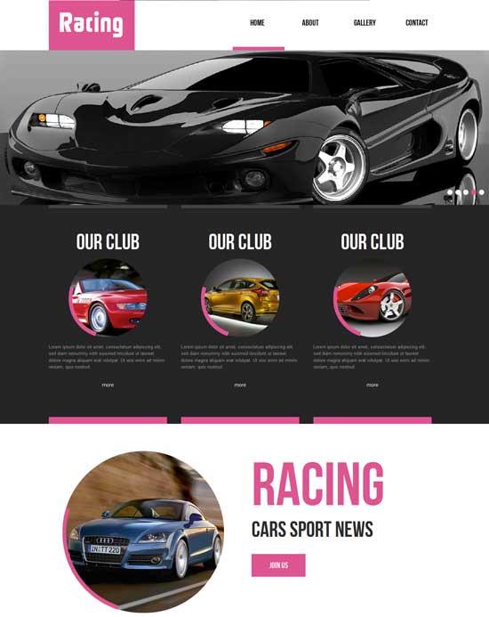 Free-Car-Racing-Website-Template