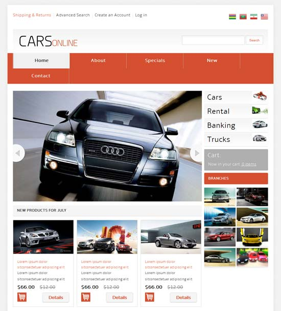 Free-Cars-Online-automobile-Mobile-Website-Template