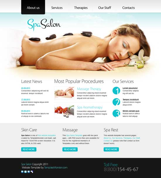 Free-Clean-Spa-Salon-Website-Template