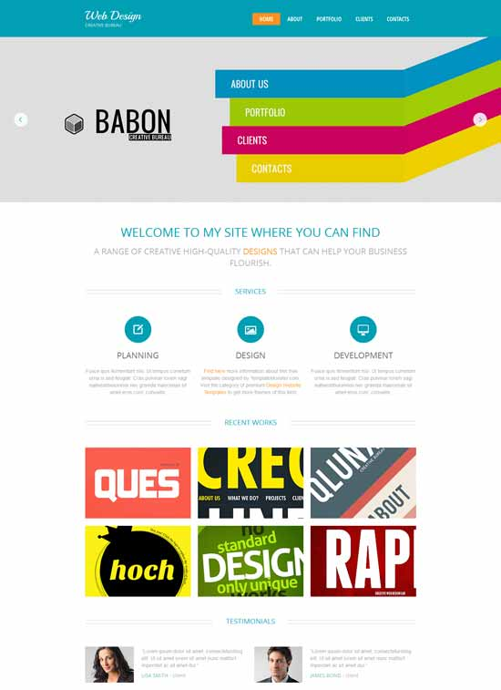 Free-Design-Studio-HTML5-Template-Babon