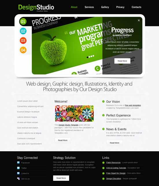 Free-Design-Studio-Website-Template