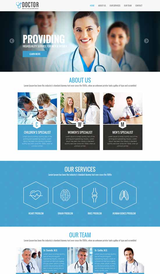 Free-Doctor-Medical-Responsive-template