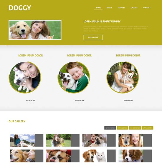 Free-Doggy-Responsive-Website-Template
