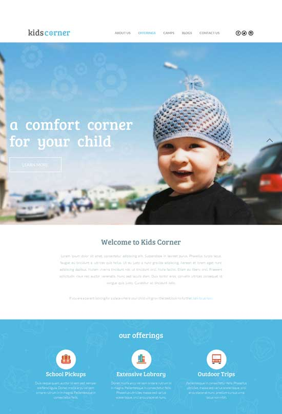 Free-Educational-Responsive-template-for-Kids