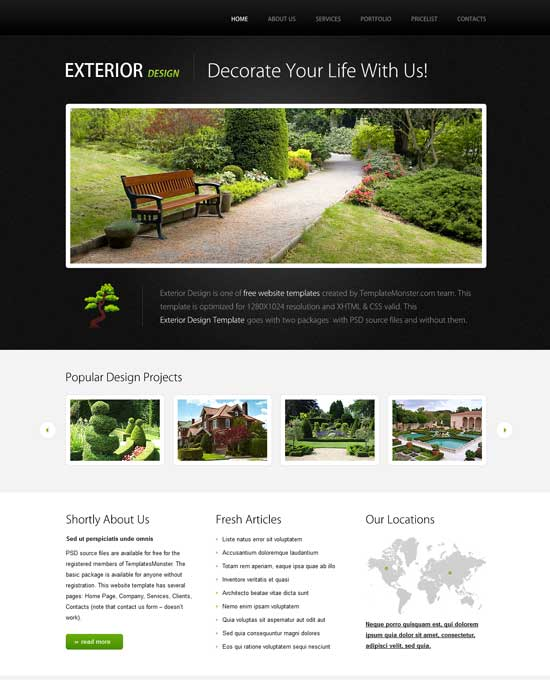 Free-Exterior-Design-HTML-Website-Template