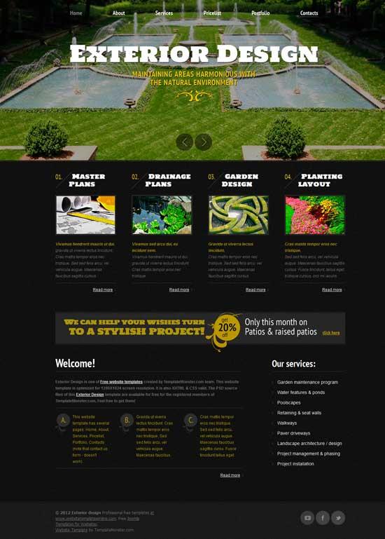 Free-Exterior-Design-Website-Template