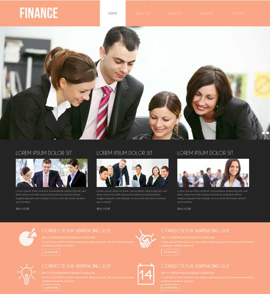 Free-Finance-Corporate-Business-website-Template