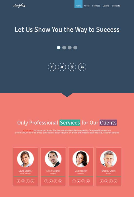 Free-Flat-design-Business-Website-Template