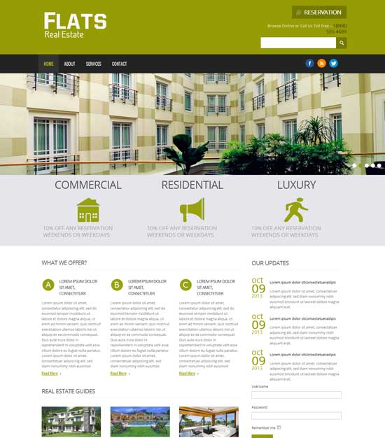 Free-Flats-Real-Estate-Website-Template