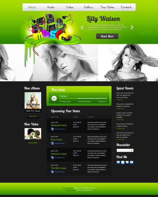 72 Best Music Website Templates Free & Premium - Page 2 of