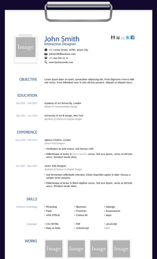 Free-HTML-Resume-Template