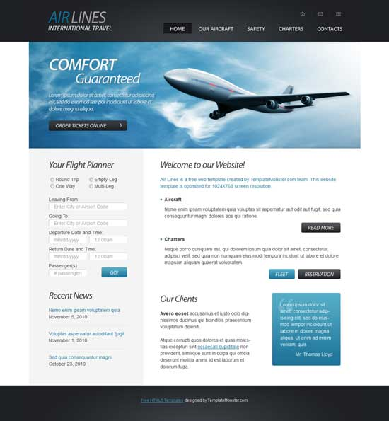 Free-HTML5-Airlines-Company-Website-Template