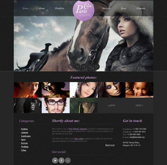 Free-HTML5-Photography-Website-Template