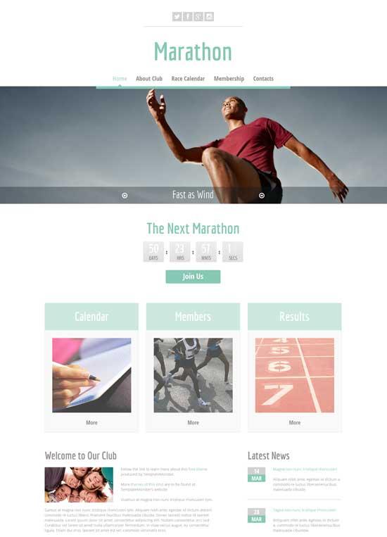 sport site html5 template