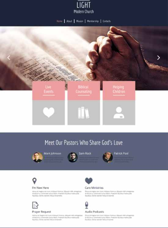 Religious Site HTML5 Theme