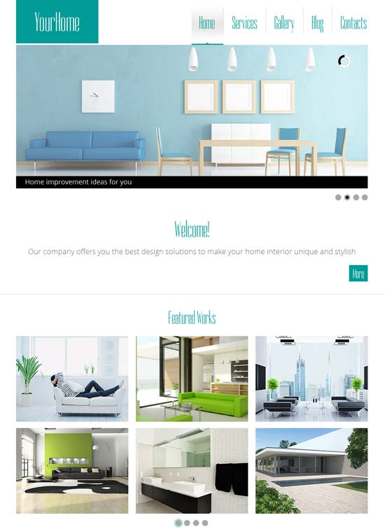 interior design html5 website theme