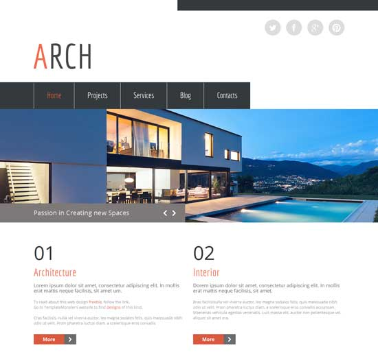Free-HTML5-architecture-Website-Template