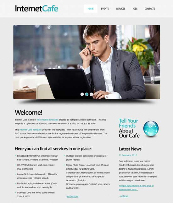 Free-Internet-Cafe-Website-Template