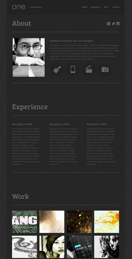Free-One-Page-Web-Resume-Template