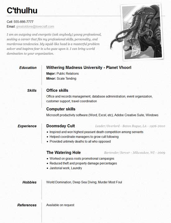 Free-Online-Resume-Site