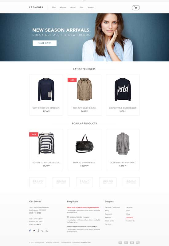 Free-PSD-eCommerce-Website-Template