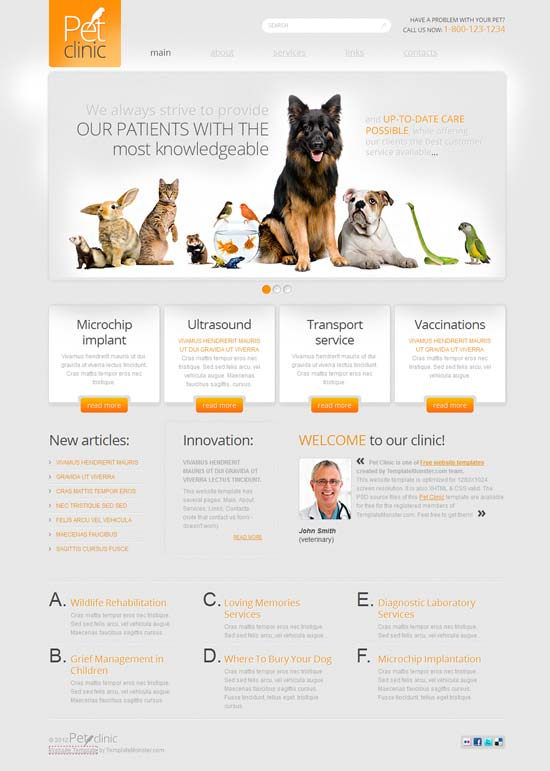 Free-Pet-Clinic-Html5-Template
