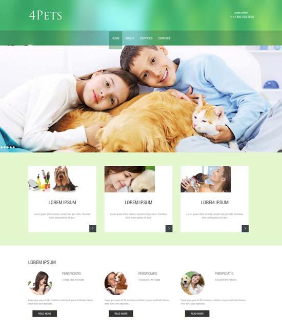 Free-Pets-animals-Responsive-Website-Template