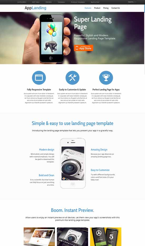 Free-Responsive-App-Landing-Page-Website-Template
