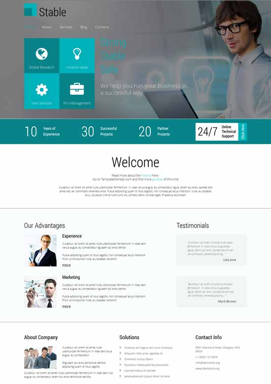 Free-Responsive-Consulting-Template-Stable
