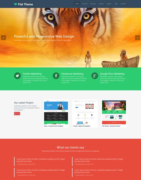 Free-Responsive-Flat-Template