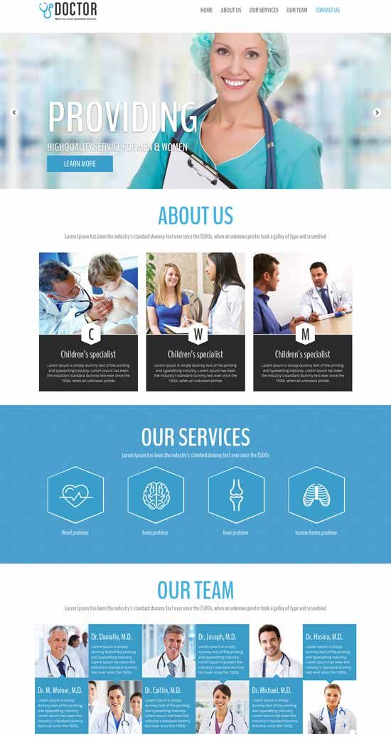 doctor html5 template