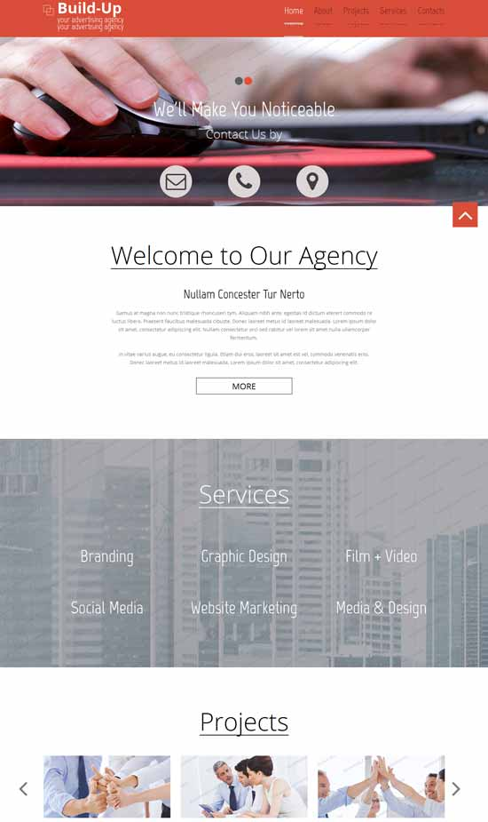 Responsive HTML5 Corporate Template