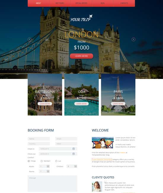 Free-Responsive-HTML5-Travel-Agency-Template