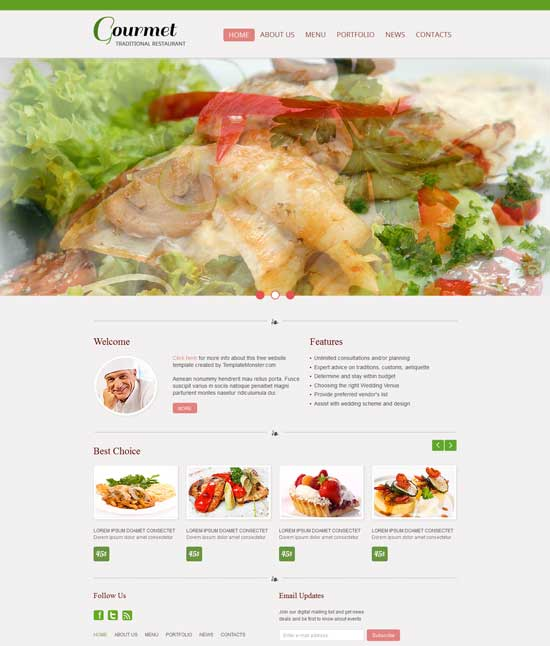 Free-Restaurant-Website-Template