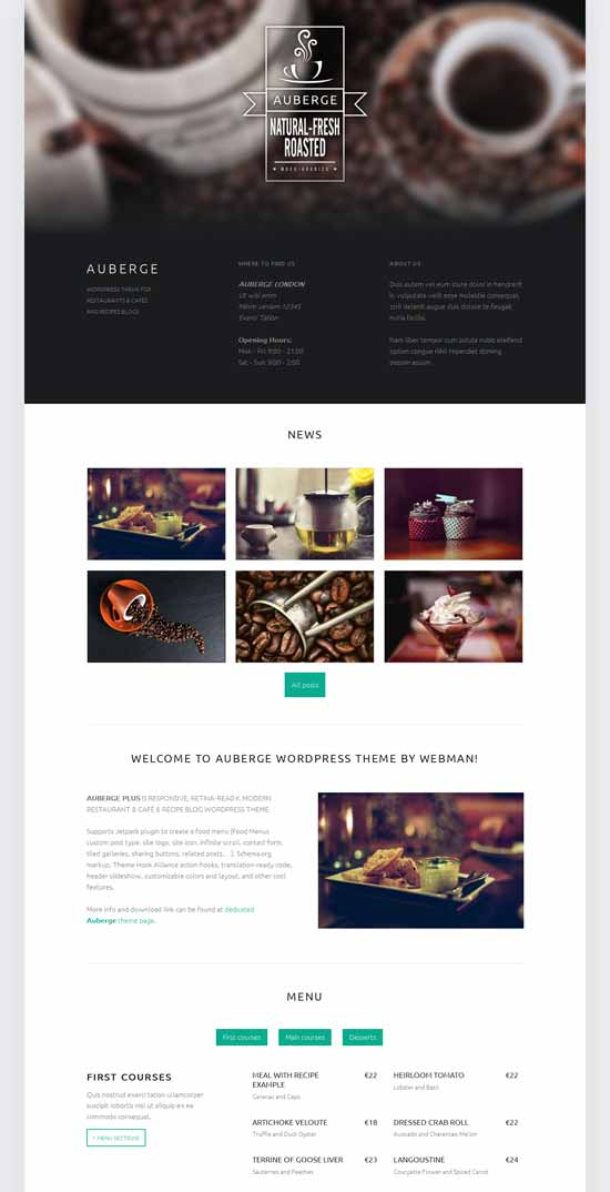 Free-Restaurant-café-WordPress-theme