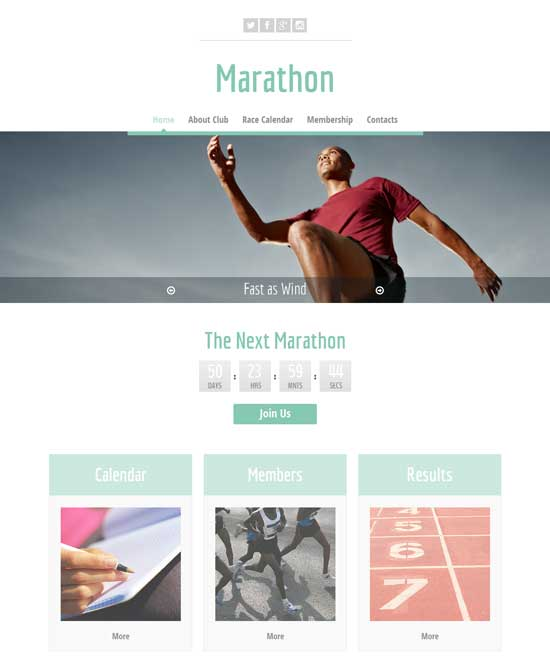Free-Running-Sport-Website-Template