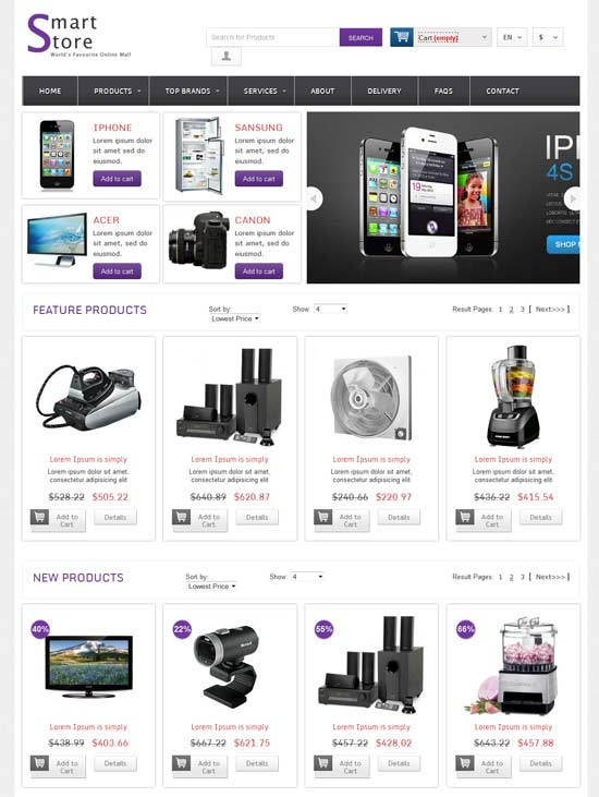 Free-Smart-Store-Online-Shopping-Cart-Mobile-website-Template