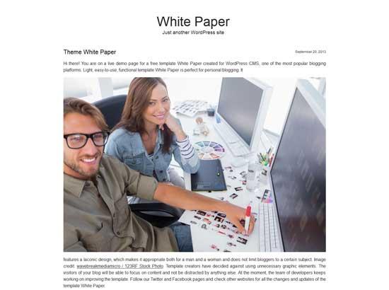 Free Theme White Paper