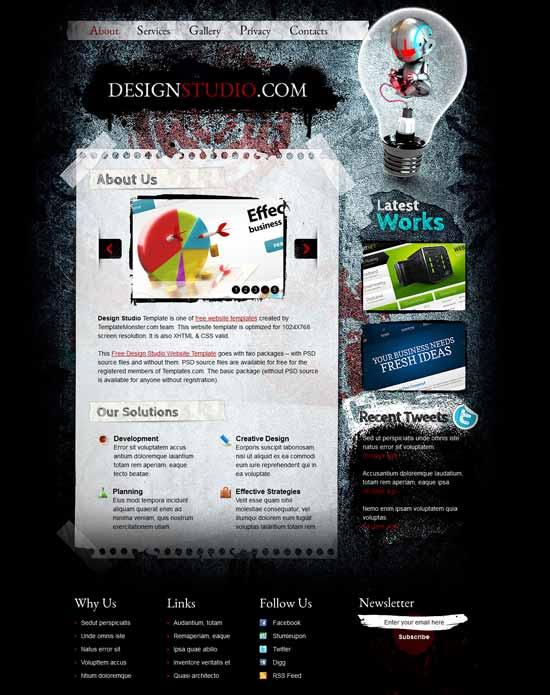 Free-Web-Design-Studio-Website-Template