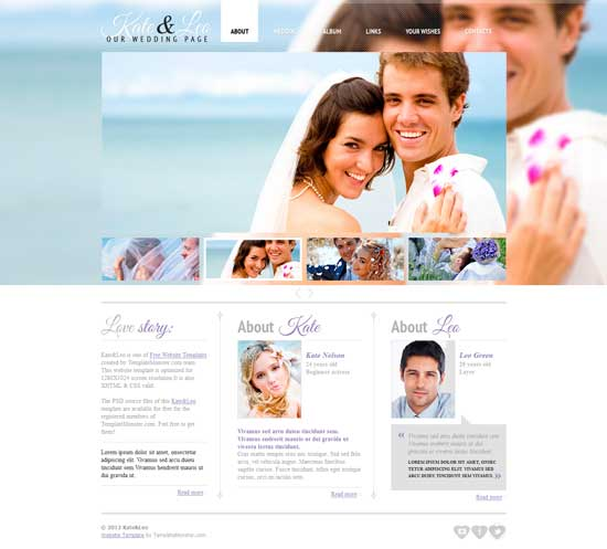 Free-Wedding-Page-Website-Template