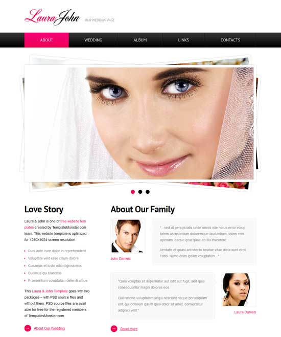 Free-Wedding-Website-Template