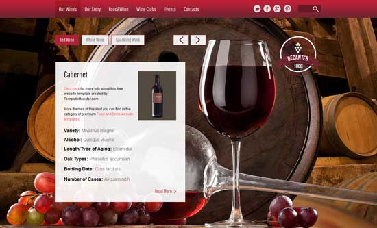 Free-Wine-Foods-HTML5-Template